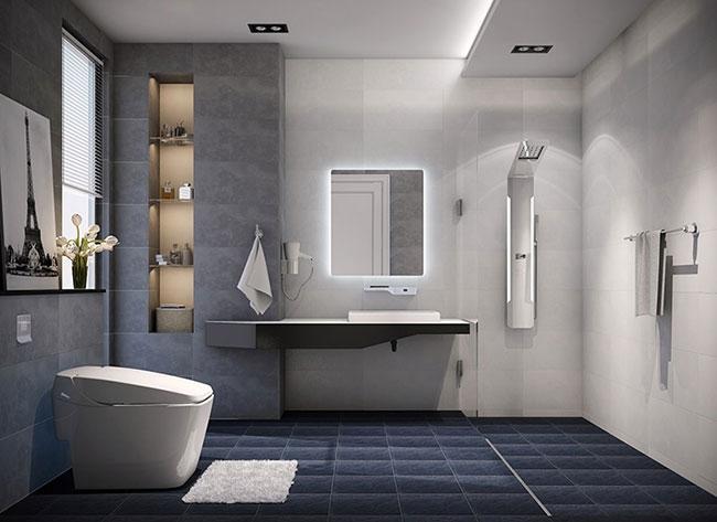 mẫu thiết kế nhà tắm, phòng tắm, thiết bị vệ sinh phong cách châu Âu