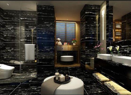Thiết kế phòng tắm sang trọng đá cẩm thạch